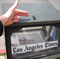 LA Times with a hand shooting