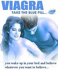 Viagra poster with man and woman