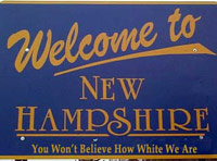 Welcome to New Hampshire: You Won't Believe How White We Are!