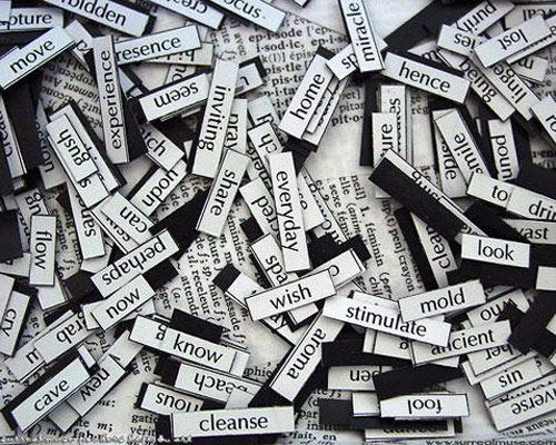 Words refrigerator magnets