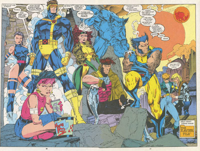 X-Men poster with Rogue and Jim Lee
