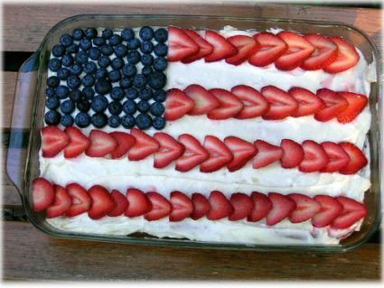 American flag pudding