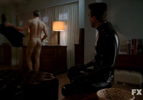 Zachary Quinto and Teddy Sears in American Horror Story