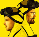 Breaking Bad - Walt and Jesse in lab coats