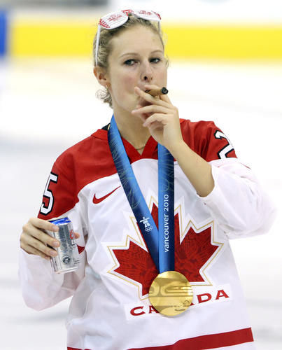Woman from the Canadian hockey team