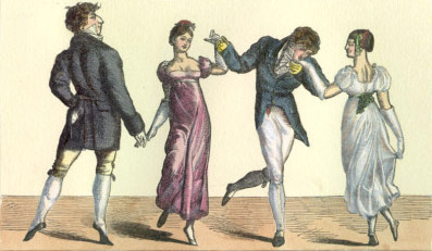Old school dancing in 19th century