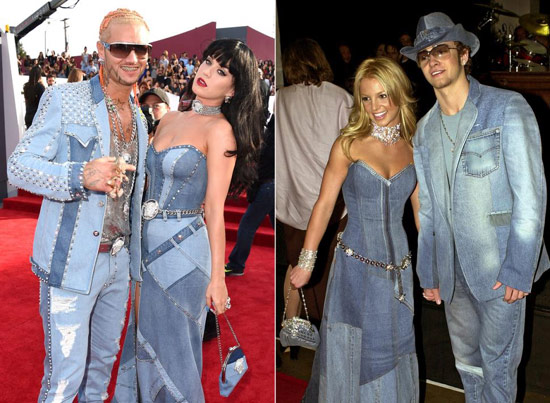 Justin Timberlake and Britney Spears in denim outfits