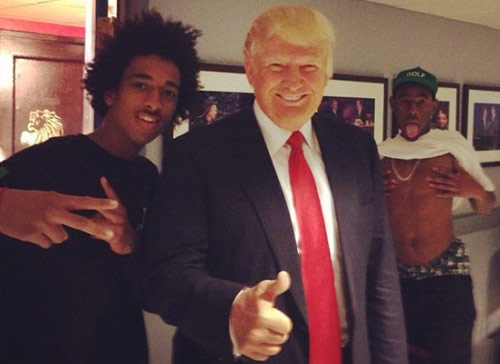Donald Trump with two rappers