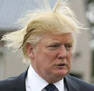 Donald Trump with crazy hair-do