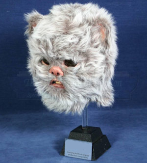 Ewok head on a statue