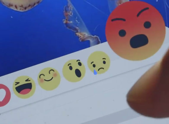 Facebook angry emoji dislike button