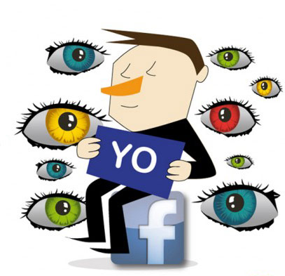 All eyes on Facebook logo