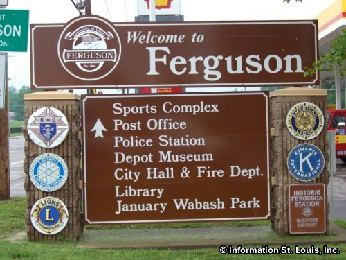 Ferguson, MO Welcome Sign