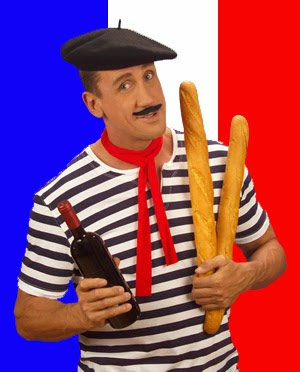 French man with a loaf of bread