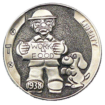 Homeless guy on a US nickel