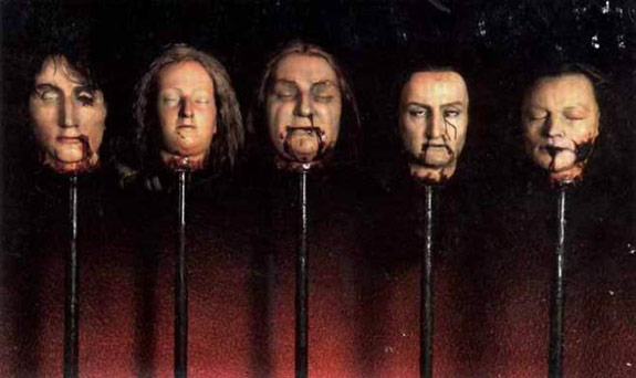Impaled heads on rods