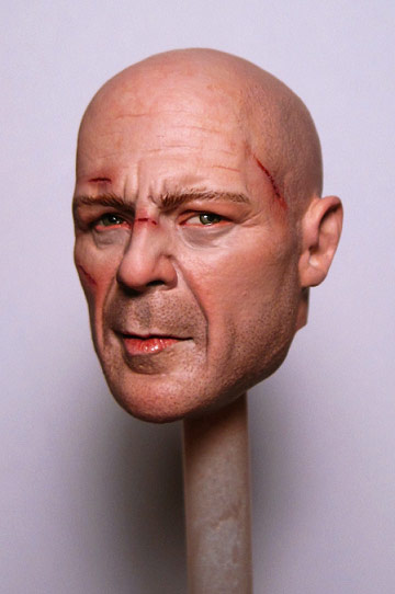 John McClane's head on a stick