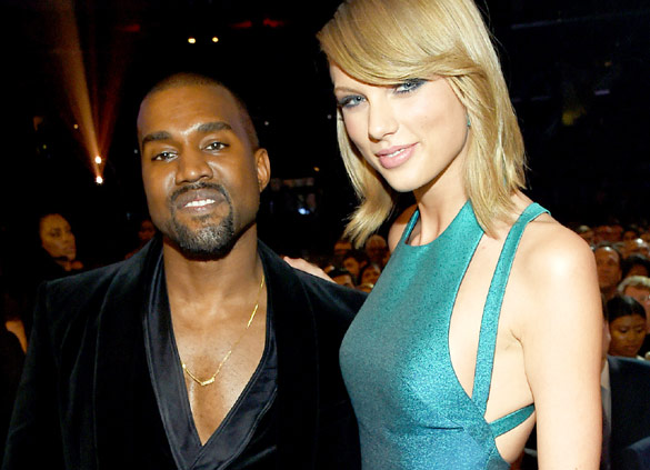 Kanye West with Taylor Swift happy