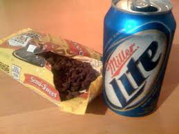 Miller Lite with chocolate