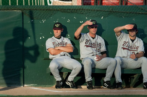 Minor League Baseball prospects on the bench