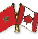 Morocco-Canada pin for shirt