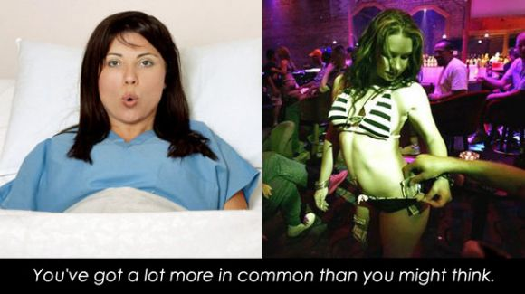 New mom and new stripper have a lot in common.