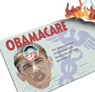 Obamacare card burning