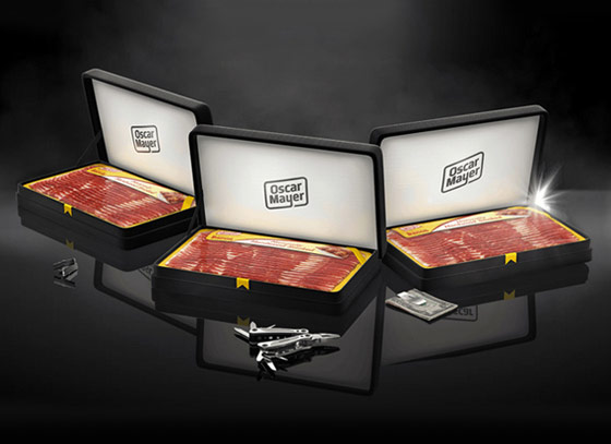 Oscar Meyer bacon boxes