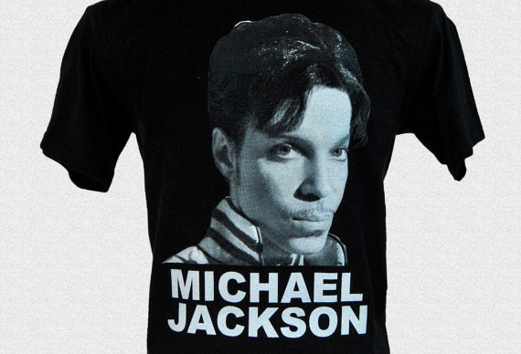 Prince tshirt with Michael Jackson's face