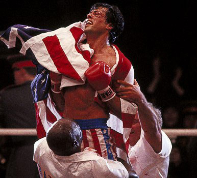 Rocky IV winning moment