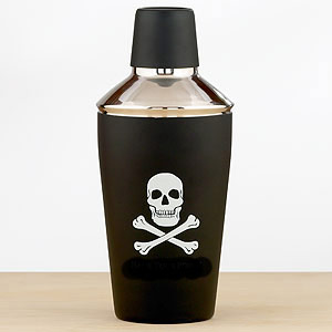 Skull and crossbones cocktail mixer