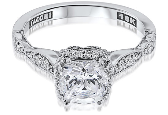 Tacori 18K Diamond Engagement Ring