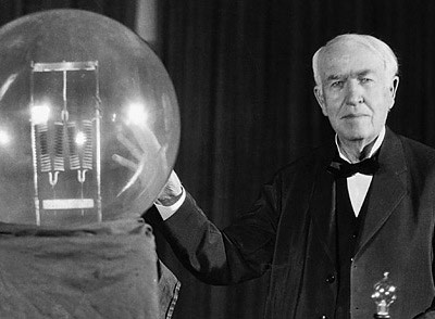 Thomas Edison huge light bulb