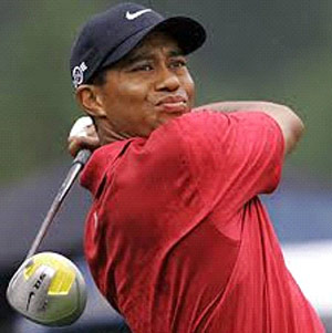 Tiger Woods ass face