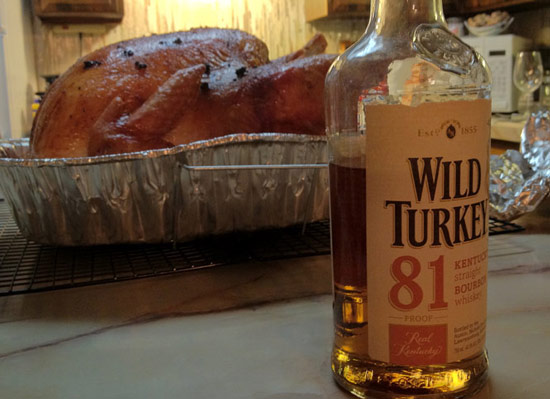 Wild Turkey liquor on Thanksgiving