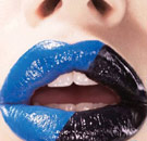 Blue and black lipstick for Zima on a girl