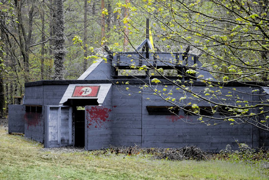 Zombie apocalypse bunker in backyard