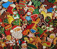 Christmas cookies with sprinkles