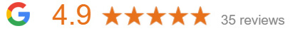 4.9 Google Review rating