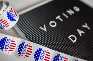 Voting Day stickers