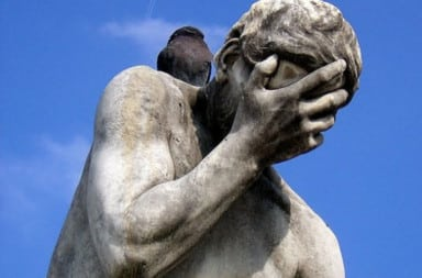 Statue crying because it ruined someone's life