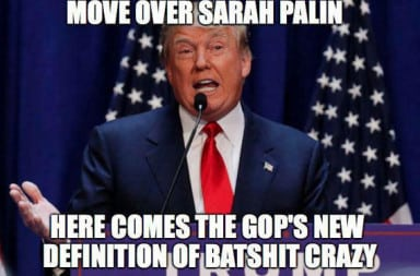 Trump: Move over Sarah Palin
