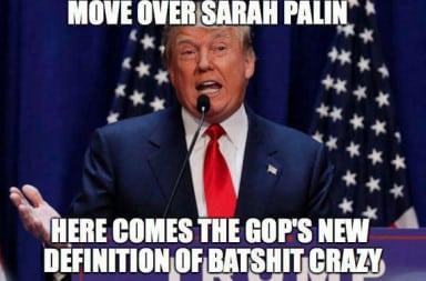 Trump: Move over Sarah Palin