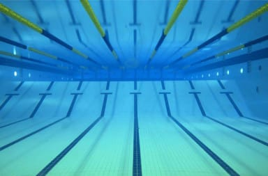 Lap lanes in a swimming pool