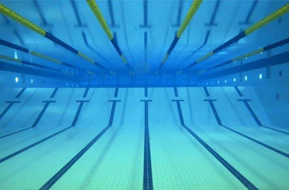 Lap lanes in a swimming pool