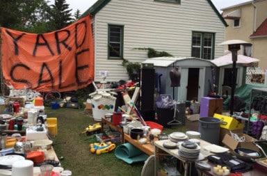 Dump of a yard sale
