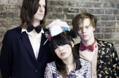 Fake indie band dressed up