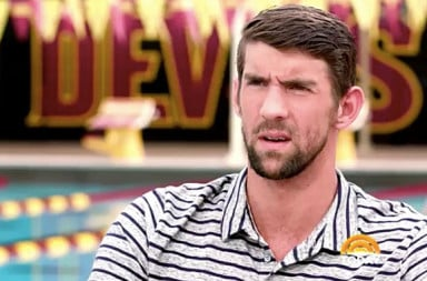 Michael Phelps looks confused