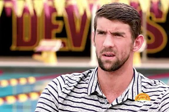 Michael Phelps looks confused
