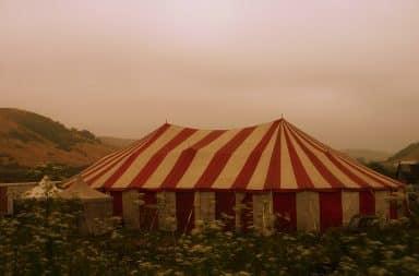 Creepy circus tent